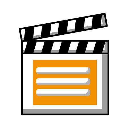 クラッパーボードビデオプレーヤーアクション画像ベクトルイラスト 写真素材 - 99338088