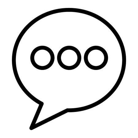 Round speech bubble talk social media vector illustration outline