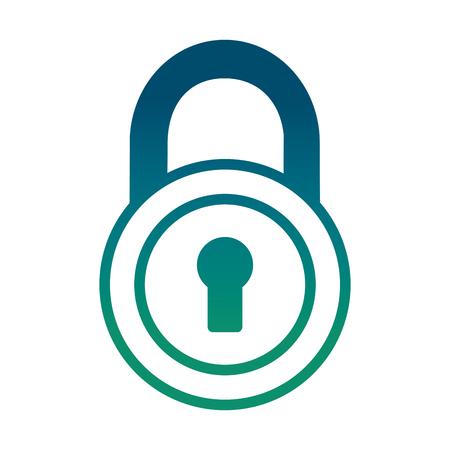 Security padlock isolated icon vector illustration design Foto de archivo - 99338445