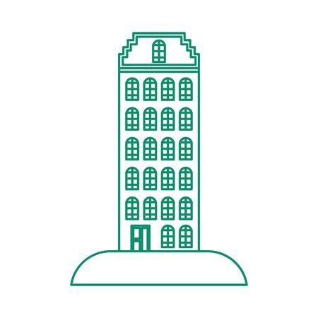 groot gebouw structuur pictogram vector illustratie ontwerp