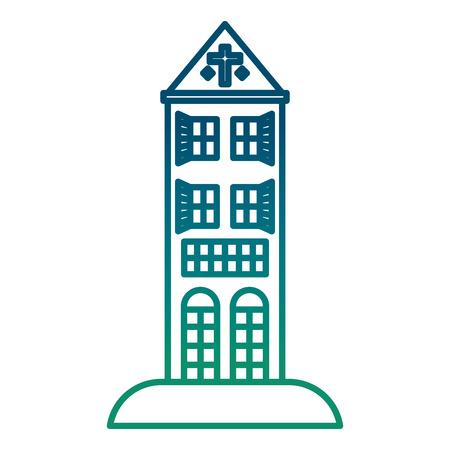 big building structure icon vector illustration design