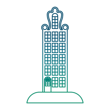 big building structure icon vector illustration design
