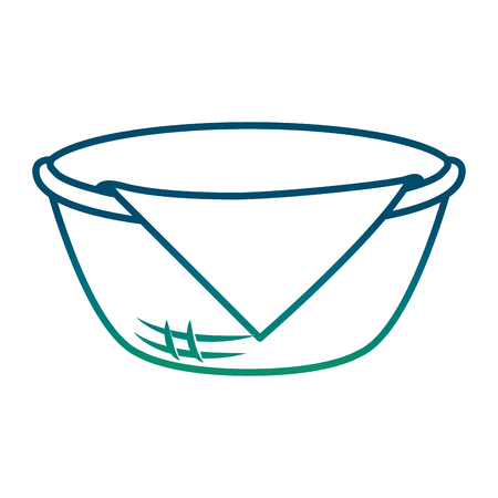 Basket with napkin icon illustration design