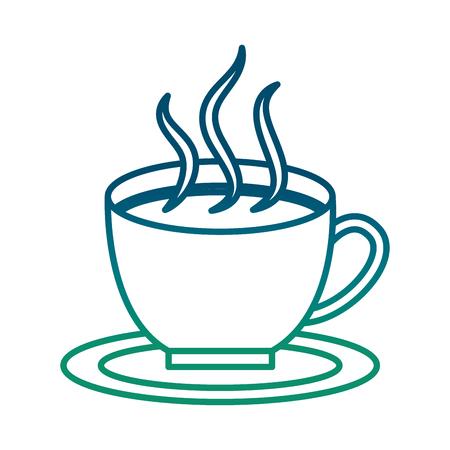 Hot coffee cup icon illustration design