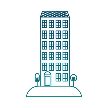 Big building structure icon illustration design