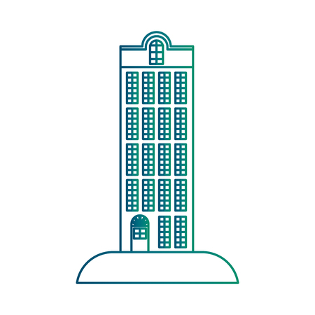 Big building structure icon vector illustration design  イラスト・ベクター素材