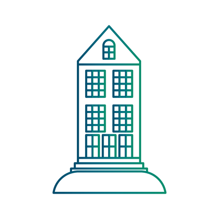Big building structure icon vector illustration design Çizim