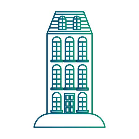 Big building structure icon vector illustration design Illusztráció