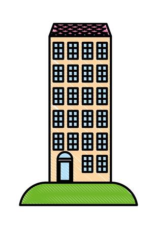 high building architecture urban image vector illustration
