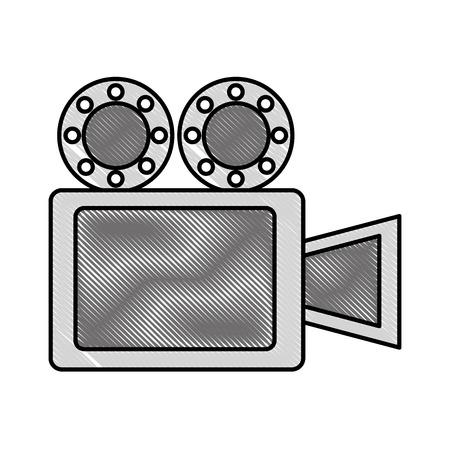Movie projector film strip reel image vector illustration 일러스트