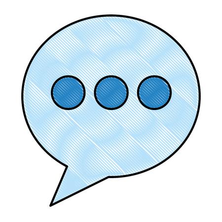 Round speech bubble talk social media vector illustration