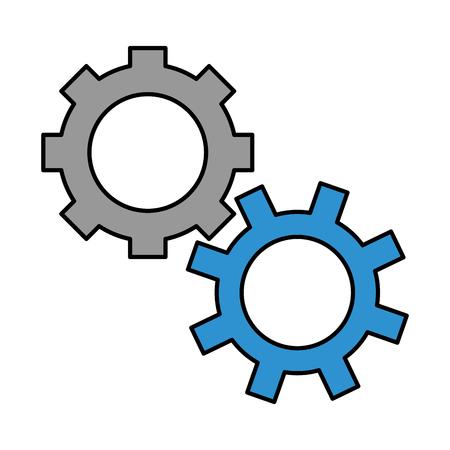 Getriebe mechanische Zahnrad Arbeit Symbol Vektor-Illustration Standard-Bild - 99345958