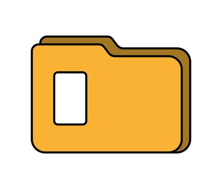 folder file document organizer information vector illustration