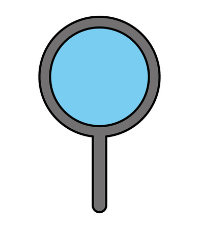 magnifier glass search find technology vector illustration
