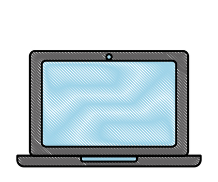 laptop gadget wireless technology image vector illustration