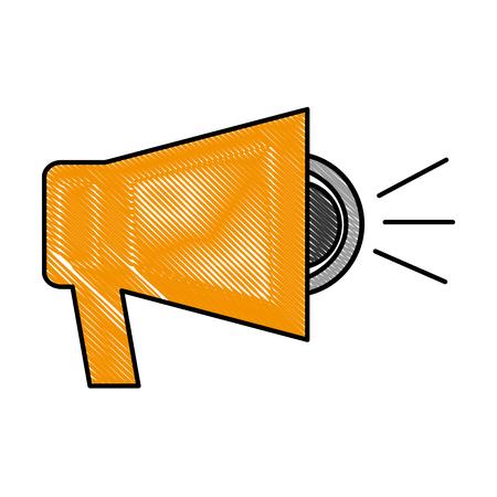megaphone advertising marketing business image vector illustration