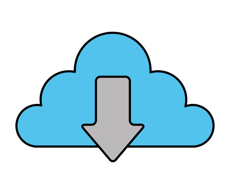 cloud storage data technology download information vector illustration 向量圖像