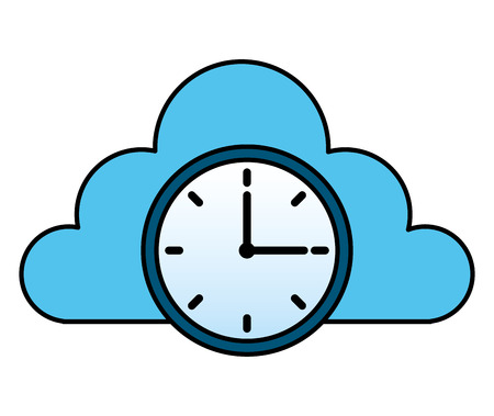 cloud storage clock time work image cloud storage clock time work image Vettoriali
