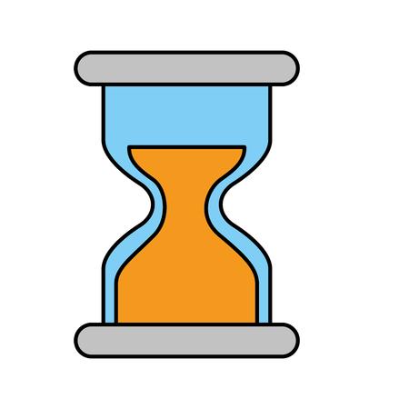 hourglass business work time image vector illustration Illustration