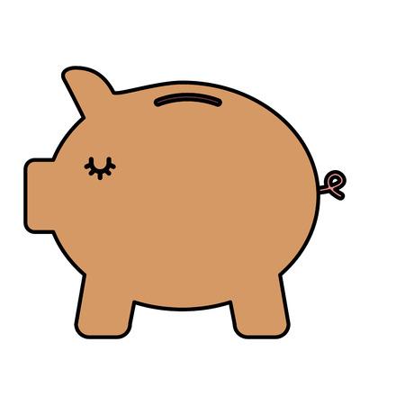 bank piggy safe money protection icon vector illustration Foto de archivo - 99341231