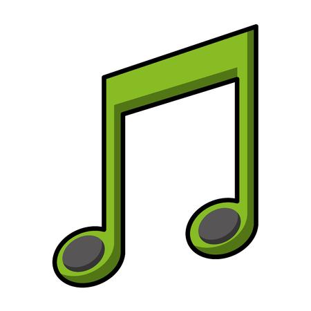 音楽ノート分離アイコンベクトルイラストデザイン