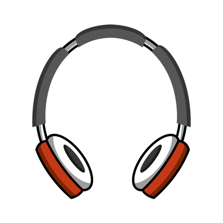 Headphone music player isolated icon vector illustration design
