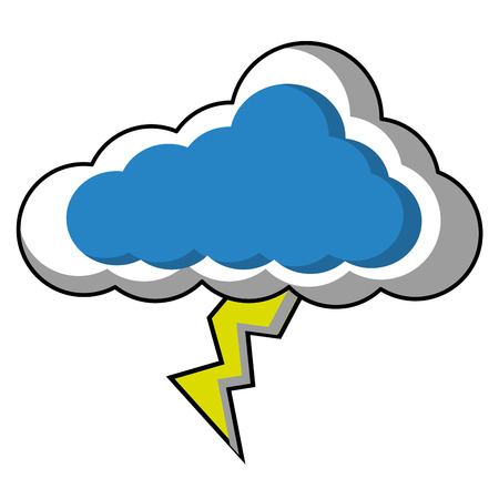 Cloud sky with ray weather vector illustration design