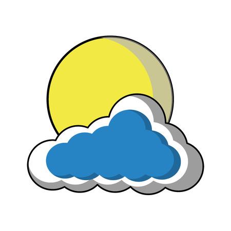 Cloud with summer season weather vector illustration Ilustração