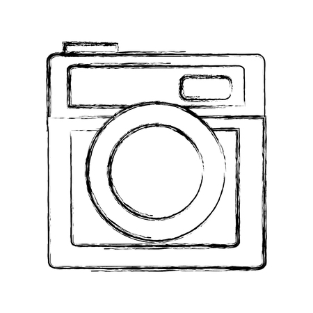Camera photographic isolated icon vector illustration design Çizim