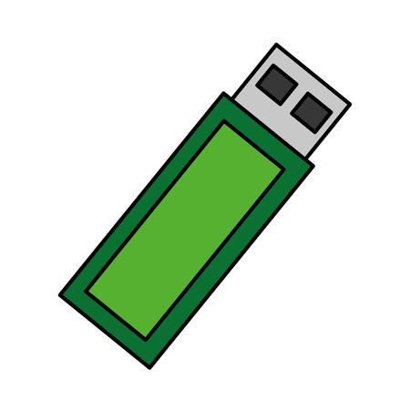 usb device backup digital icon vector illustration Illustration