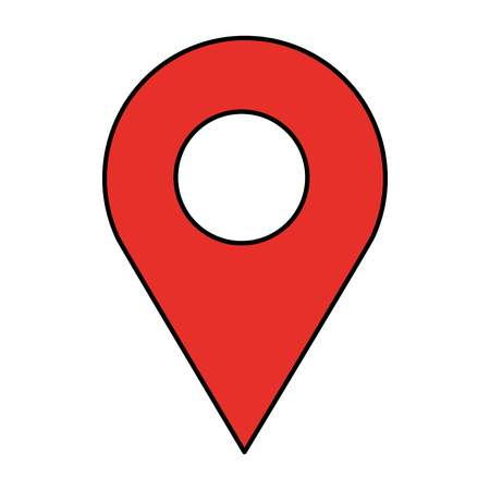 gps navigation location pointer image vector illustration Çizim