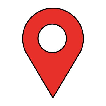 gps navigation location pointer image vector illustration Illustration