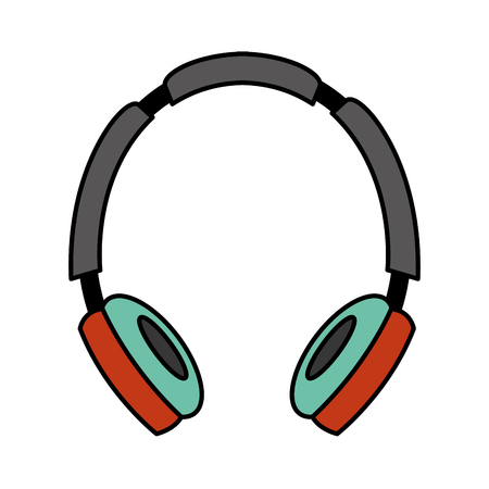 headphones audio music listen image vector illustration