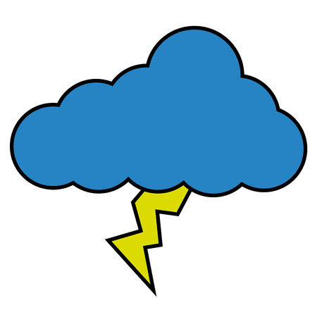cloud lightning climate icon image vector illustration Illustration