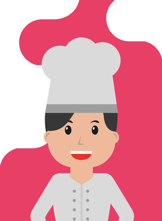 Woman chef in uniform worker profession vector illustration Illustration