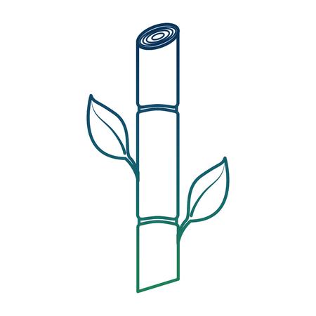 Suikerriet resource biobrandstof hernieuwbare vector illustratie aangetaste kleur Stock Illustratie