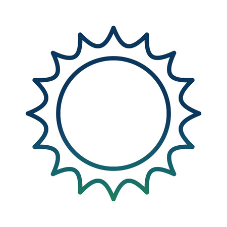 Sun energy ecology hot power image vector illustration degraded color
