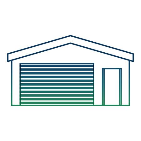 Garage storage entrance building icon image vector illustration degraded color Illustration