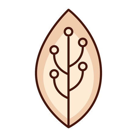 leaf ethnicity decoration icon vector illustration design