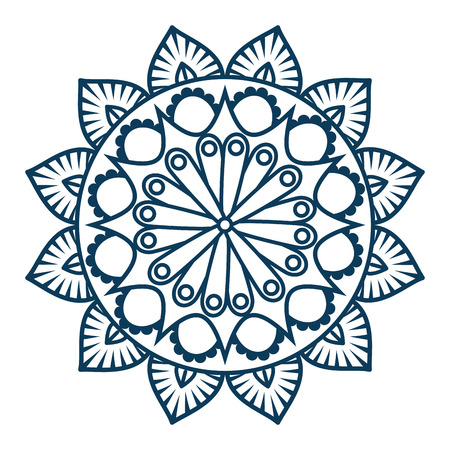 Monochrome and circular mandala design Illustration
