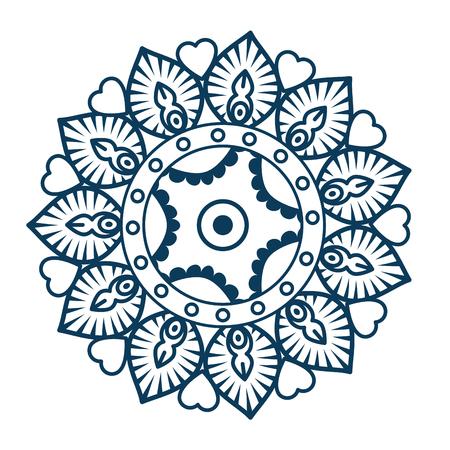 Circular mandala design Illustration