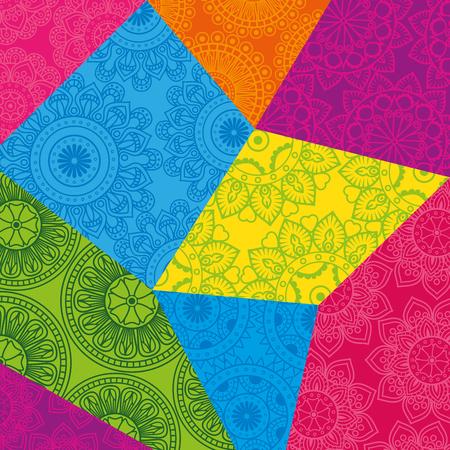 Colorful and circular mandalas pattern backgroundvector illustration design