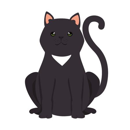 cute cat mascot character vector illustration design