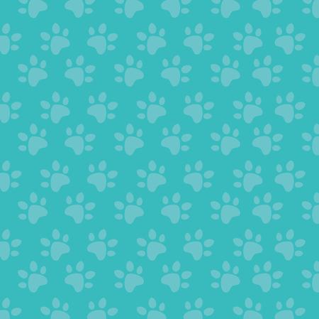 paw print pattern background vector illustration design Illustration
