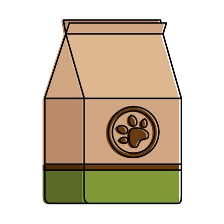 Pet shop paper bag vector illustration design