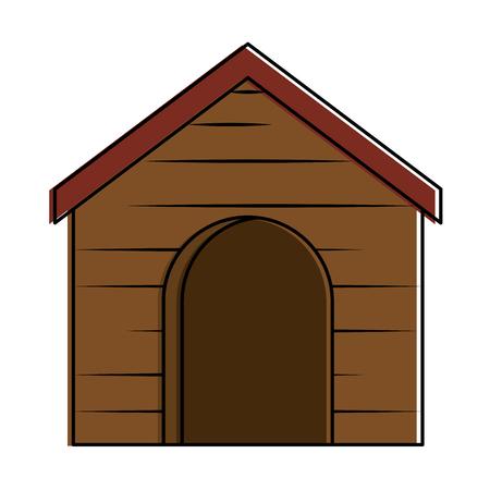 Wooden house animal icône illustration vectorielle design Banque d'images - 99535127
