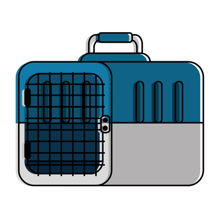Box transport mascot icon vector illustration design
