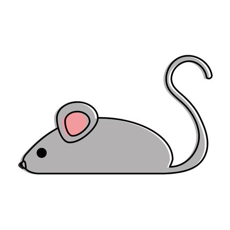 Progettazione dell'illustrazione di vettore dell'icona isolata piccolo topo