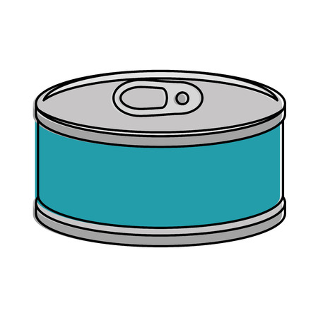 Tuna can isolated icon vector illustration design