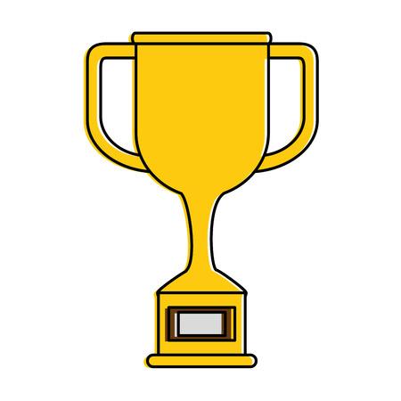 Trophy cup award icon vector illustration design 일러스트